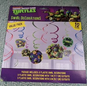 TMNT Swirl Decorations *Bundle Only*
